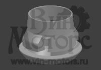 Пистон порога Амулет (черный, круглый)