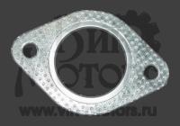 Прокладка глушителя (круглые отверстия под болты)